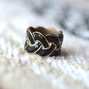 Jewelry - black and gold braid ring